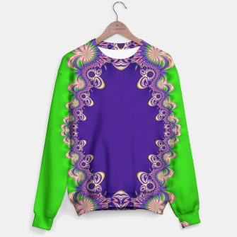 Thumbnail image of Funky Purple Green Fractal Lace Sweater, Live Heroes