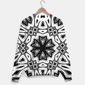 Thumbnail image of Maya 1- Black White Silver Hexagon Pattern Sweater, Live Heroes