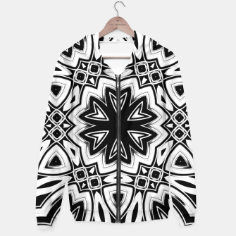 Thumbnail image of Maya 1- Black White Silver Hexagon Pattern Hoodie, Live Heroes