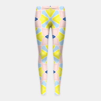 Thumbnail image of Citrus Floral Girl's Leggings, Live Heroes