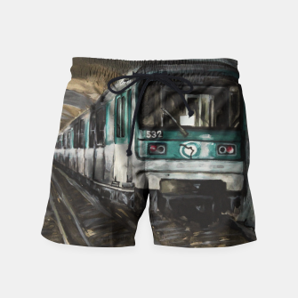 Miniatur Paris  Swim Shorts, Live Heroes