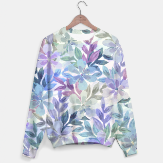watercolor Botanical garden Unisex sweater imagen en miniatura