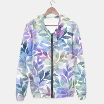 watercolor Botanical garden Zip up hoodie imagen en miniatura