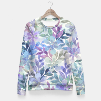 watercolor Botanical garden Women sweater imagen en miniatura