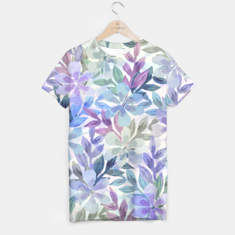 watercolor Botanical garden T-shirt imagen en miniatura