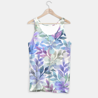 watercolor Botanical garden Tank Top imagen en miniatura