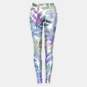 watercolor Botanical garden Leggings imagen en miniatura