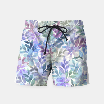 watercolor Botanical garden Swim Shorts imagen en miniatura