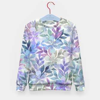 watercolor Botanical garden Kid's sweater imagen en miniatura