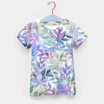 watercolor Botanical garden Kid's t-shirt imagen en miniatura