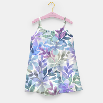 watercolor Botanical garden Girl's dress imagen en miniatura