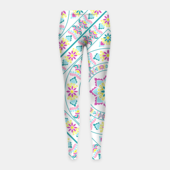Thumbnail image of Ethnic African Style Ornament Pattern Girl's Leggings, Live Heroes