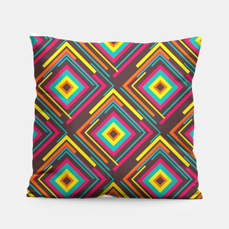 Thumbnail image of Abstract Geometric Pattern Pillow, Live Heroes