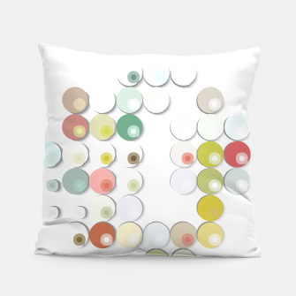 Thumbnail image of Abstract Geometric Dots CirclePattern  Pillow, Live Heroes