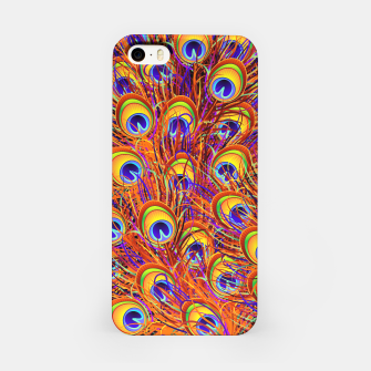 Thumbnail image of Peacock Feathers Colorful Pattern  iPhone Case, Live Heroes