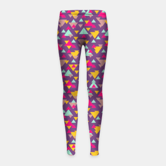 Imagen en miniatura de Abstract Geometric Multicolor Design Girl's Leggings, Live Heroes