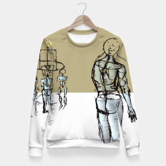 Miniatur Glass People Fitted Waist Sweater, Live Heroes