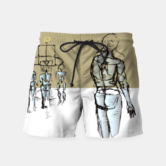 Miniatur Glass People Swim Shorts, Live Heroes