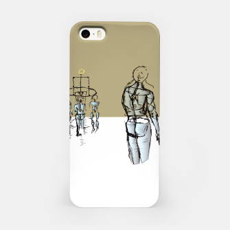 Miniatur Glass People iPhone Case, Live Heroes