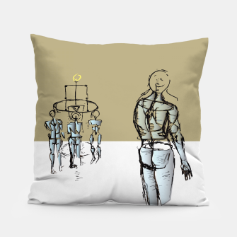 Miniatur Glass People Pillow, Live Heroes