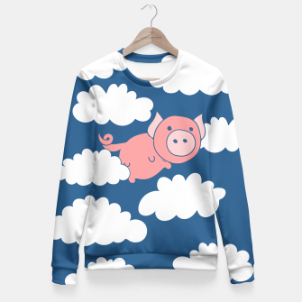 Miniatur When pigs fly flying pig Fitted Waist Sweater, Live Heroes