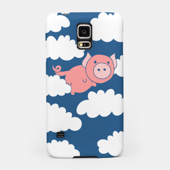 Miniatur When pigs fly flying pig Samsung Case, Live Heroes