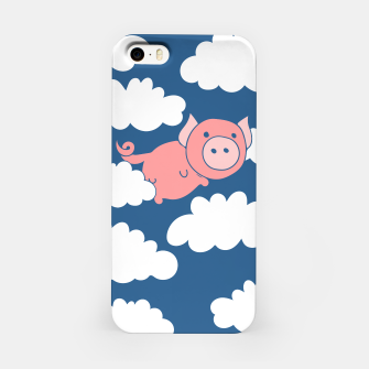 Miniatur When pigs fly flying pig iPhone Case, Live Heroes
