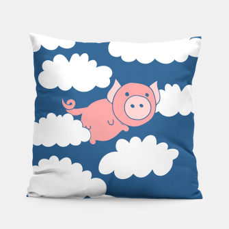 Miniatur When pigs fly flying pig Pillow, Live Heroes