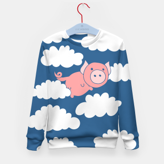 Miniatur When pigs fly flying pig Kid's Sweater, Live Heroes