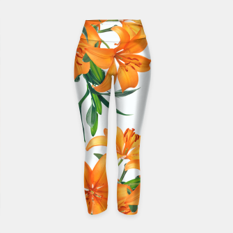 Thumbnail image of Glorious Lilies Yoga Pants, Live Heroes