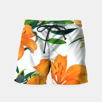 Thumbnail image of Glorious Lilies Swim Shorts, Live Heroes
