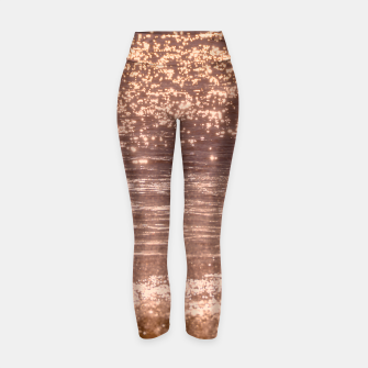 Thumbnail image of Pink Sea Sparkle Yoga Pants, Live Heroes