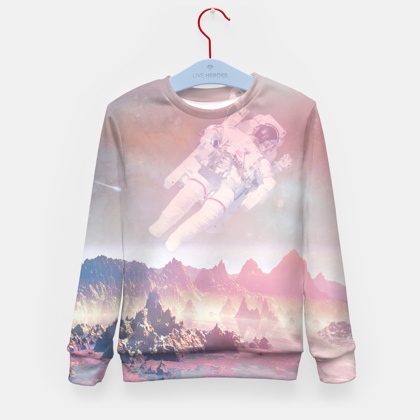Image of Cosmic Landing Kid's Sweater - Live Heroes