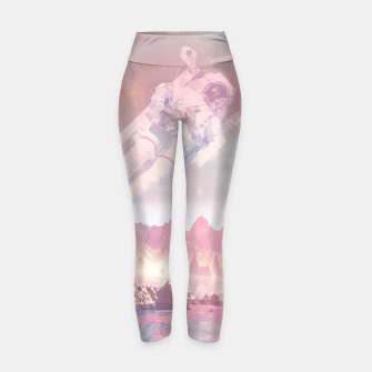 Thumbnail image of Cosmic Landing Yoga Pants, Live Heroes