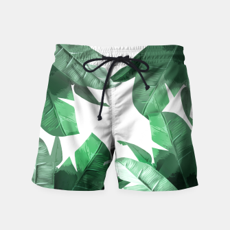 Thumbnail image of Tropical Palm Swim Shorts, Live Heroes