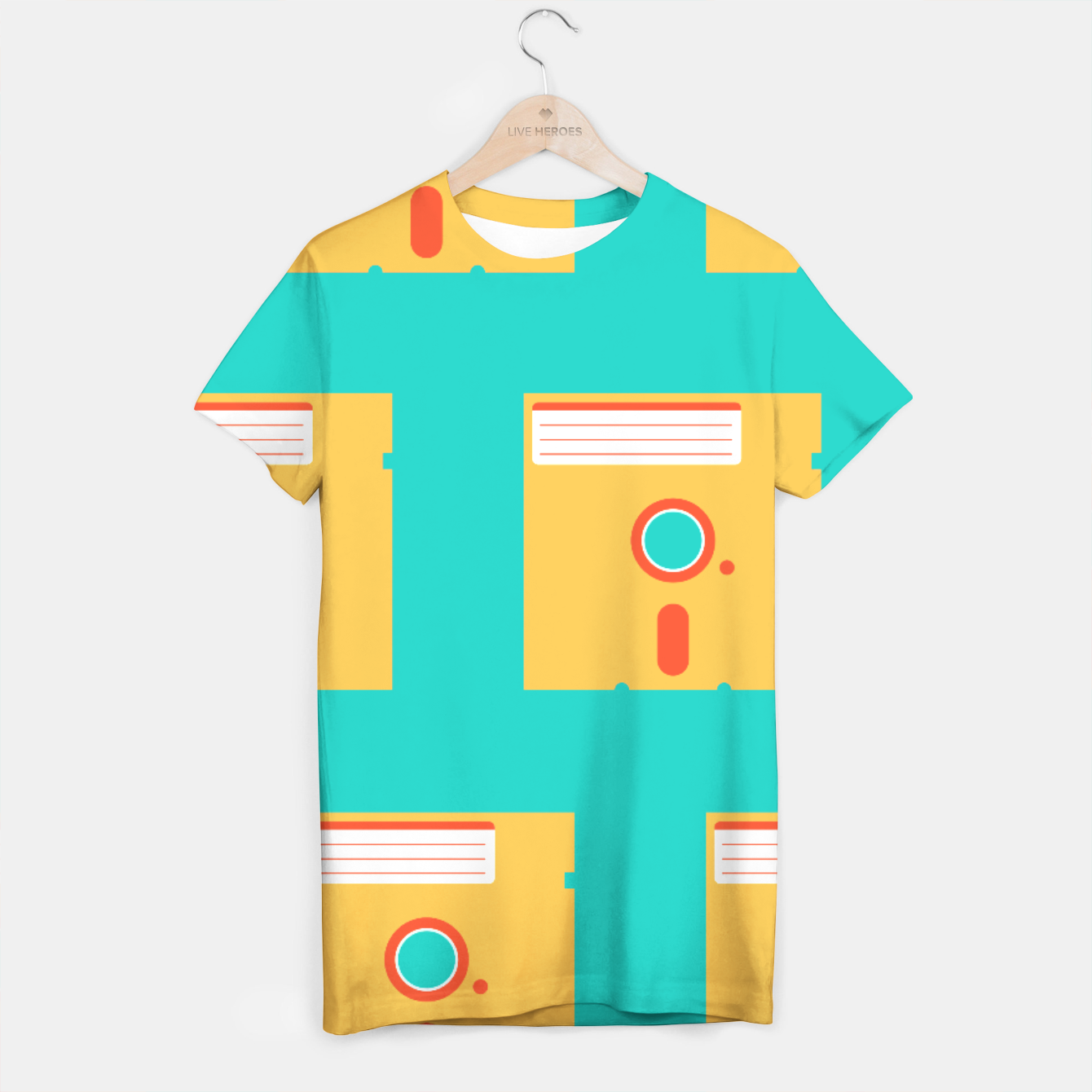 Image of Floppy Pattern Turquoise - Tee - Live Heroes