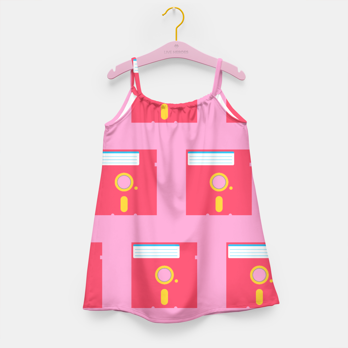 Image of Floppy Pattern Pink - Kid´s Dress - Live Heroes
