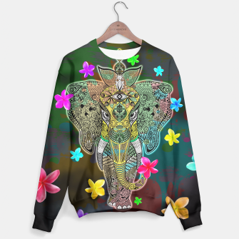 Thumbnail image of Elephant Zentangle Doodle Art  Sweater, Live Heroes