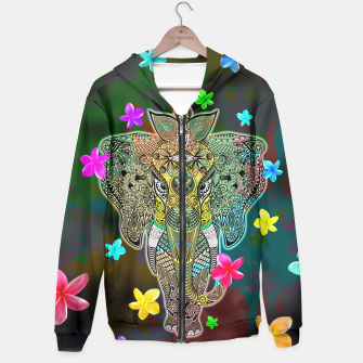 Thumbnail image of Elephant Zentangle Doodle Art  Hoodie, Live Heroes
