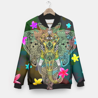 Thumbnail image of Elephant Zentangle Doodle Art  Baseball Jacket, Live Heroes
