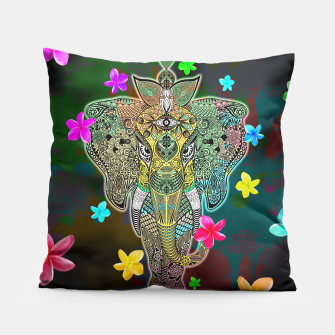 Thumbnail image of Elephant Zentangle Doodle Art  Pillow, Live Heroes