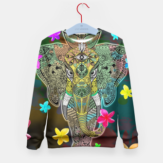 Thumbnail image of Elephant Zentangle Doodle Art  Kid's Sweater, Live Heroes