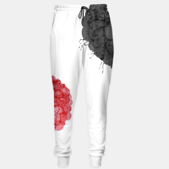 Thumbnail image of Red and black bubbles Pantalones de chándal, Live Heroes