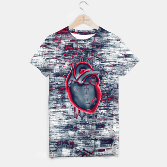 Thumbnail image of Gamer Heart BLUE CRIMSON T-shirt, Live Heroes