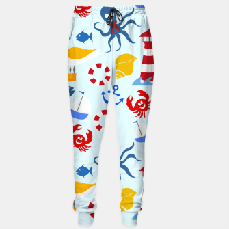 Thumbnail image of Sea creatures pattern Sweatpants, Live Heroes