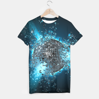 Thumbnail image of Disco Planet Explosion T-shirt, Live Heroes