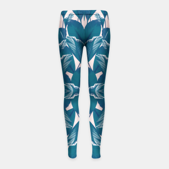Thumbnail image of Foliage Girl's Leggings, Live Heroes