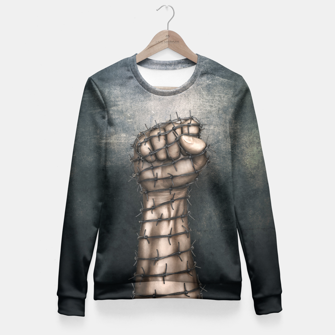 Image of Hard Religion Fitted Waist Sweater - Live Heroes