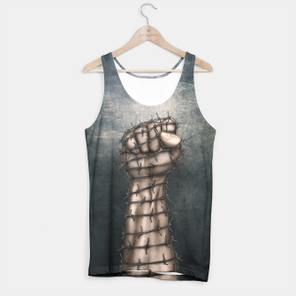 Thumbnail image of Hard Religion Tank Top, Live Heroes