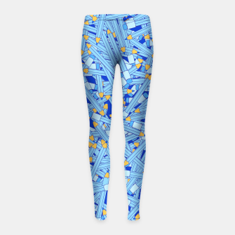 Thumbnail image of Bedtime Stories BLUE Girl's Leggings, Live Heroes